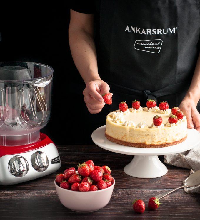 Cheesckace med jordgubbar