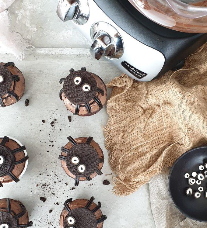 Spider cupcakes Ankarsrum