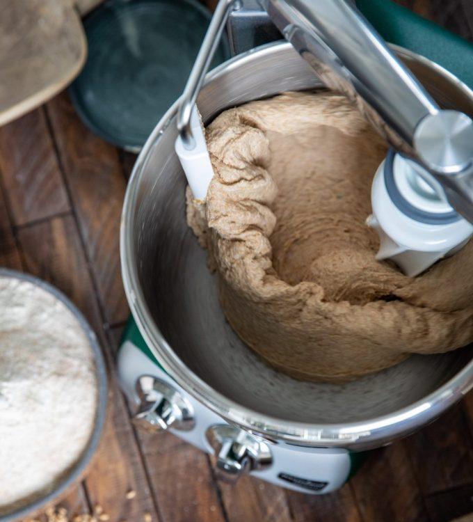Kneading dough with Ankarsrum